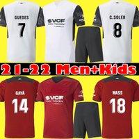 2021 2022 Valencia cf futebol jerseys casa longe c.soler 21 22 homens kit crianças cutrone gameiro oliva vallejo camisa de futebol uniforme