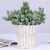 Fake Flowers Home Decor Plastic Flower Garden Simulation Plant Small Eucalyptus Green Leaf Money Decoration K510 Decorative & Wreaths