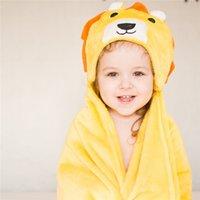 Kinder Baby Spa Handtuch Neugeborenen Mit Kapuze Handtuch Für Baby Bad Samt Baby Decke Kinder Junge Bademantel Infant Bath Hood Strandtücher 210402