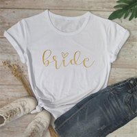 Bride Team Print Women Short Sleeve T Shirts To Be Summer Breathable Cotton T-Shirt Bachelorette Party Bridal Shower Decor Decoration