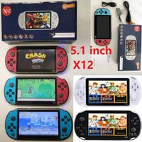 X12 Handheld Game Players 8GB Memory Portable Video Game Consoles with 5.1 inch Color Screen Support TF Card 32gb MP3 MP4 Player Unisex