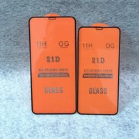 21D Glass Screen Protector For iPhone 12 Mini 11 Pro Max XS X 8 7 6S Plus SE2 Full Cover Curved Tempered Glasses For i12