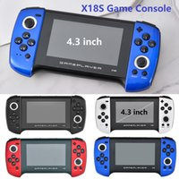 X18S Game Player 4.3 inch Handheld Game Console Double Joystick Support MP4 Player TF For PS1 GBC MD Game with Retail package box