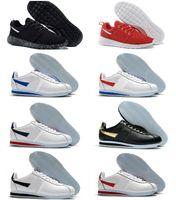 أعلى جودة الكلاسيكية كورتيز نايلون rm الاحذية الأسود الأبيض الأزرق خفيفة الوزن tanjun 2.0 تشغيل لندن الأولمبية تنفس شبكة chaussures cortezs جلد أحذية رياضية
