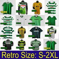 2006 2008 Celtic Retro Futebol Jerseys 1991 1998 1998 Camisas de futebol Larsson Classic Vintage Sutton 1995 1997 Kits de Futebol Celtic Top