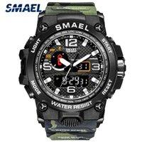 Designer luxo marca relógios smael moda homens esportes es analógico relógio de quartzo militar macho 1545 relogios masculino