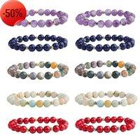 8mm Fashion Bead Bracelet Natural Stone Healing Crystal Stretch Beaded Women Men Handmade Gemstone Jewelry
