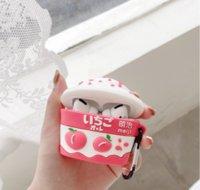 Casas de auriculares de helado de melocotón de fresa 3D para manzana Airpods Pro Protect Cover Earpods Earbudos Caja