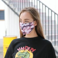 Anti Mouth Camouflage Prints Face Cover Mask Camo Dust PM2.5 Respirator Washable Reusable Protective Silk Cotton Masks for Adult