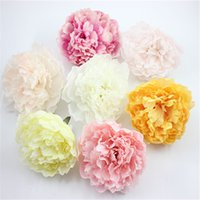 9.5cm Head 12pcs Peonías de seda artificiales Heads Real Touch Peony Rose para el ramo de bodas Floy Flower Decoración del hogar DIY Ramillete