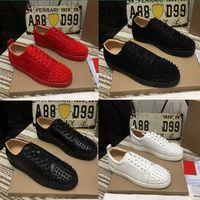 2021 고품질 붉은 바닥 남성 여성 신발 박힌 스파이크 로퍼 스니커즈 스웨이드 가죽 아파트 망깅 걷는 신발 크기 35-48 조깅