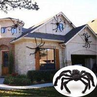 30 cm / 50 cm / 75 cm / 90 cm / 125 cm / 150 cm / 200cm czarny pająk halloween dekoracje nawiedzane domowe rekwizyt wewnętrzny gigantyczny wystrój
