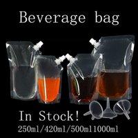 Dostawy kuchenne Gospodarskie Stojak plastikowy napój Spout Opakowania Ciecz Juice Mleko Kawa Przezroczysta torba do przechowywania Hurtownie