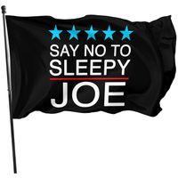Dì no a Bandiera Joe Sleepy, Doppia cucitura 150x90cm Decorazione 100D Tessuto in poliestere 100D Pubblicità Banner 3x5ft