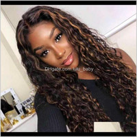 Productshd Transparent Highlight Lace Human Hair Invisible Front Wigs Malaysian Curly Wig 13*6 Deep Part Aimoonsa Drop Delivery 2021 Nfzcx