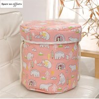 Storage Baskets Bathroom Bag Pink Cartoon Toy Laundry Basket Children's Gift Foldable And Washable Cute Baby