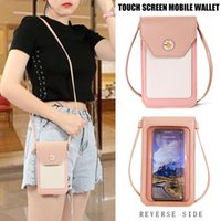 Card Holders Women Shoulder Crossbody Bag PU Leather Magnetic Buckle For Mobile Phone Cards