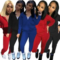 Cotton Tracksuits Women Sweatsuit Embroidery Logo Hoodie and Sweat Pants Solid Color 2 Two Piece Sets Casual Active Outfits Long Sleeve Fall Winter Clothing 5901
