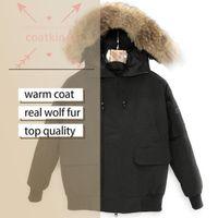 Fashion design Men Winter Coats Down Jackets Homme Outdoor Jassen Big Fur Hooded Fourrure Coat Doudoune Parka classic warm r cotton thickened