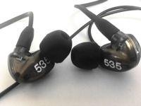 Navio em 24 horas Marca SE535 fone de ouvido destacável Hi-Fi fone de ouvido estéreo SE 535 no ouvido de ouvido cabo separado com caixa vs se215