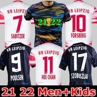 20 21 22 22 Rbl Soccer Jerseys Sabitzer 2021 2022 Adams Sorloth Nkunku Forsberg Camisa de futebol Angelino Poulsen Olmo Jersey