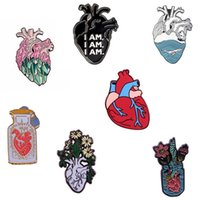 Pins, Brooches Interesting High Quality Copper Anatomy Heart Brooch Lapel Pin White Coat Badge Gift For Doctors And Nurses