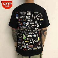 2020 Kith Kith camiseta novela hombres mujeres camisetas de alta calidad de impresión digital tee # S28L