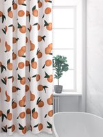 Shower Curtains LIANGQI Tangerine Curtain Bathroom Partition Waterproof Mould Proof Thick Fabric Home Accessories Customizable