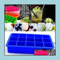 Kitchen, Dining Bar Home & Gardensile Ice Cube Tray Molds Kitchen Tools Frozen Block Mold Cake Mod Chocolate Mods 15 Cavity Square Baking Pa