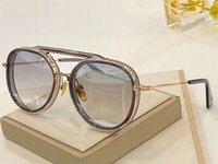 Yuvarlak Occhiali Güneş Gözlüğü 19017 DA Erkekler Flaş Lens Unisex Altın Çerçeve Kutusu Shades PMSGL Ile 60mm Yeni Taban