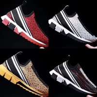 2021 Designer Casual Schuhe Frauen Männer Sorrento Diamanten Rhinestones Kristalle Laufen Turnschuhe Stretch Mesh Schwarz Weiß Rot Glitter Runner Flat Sport Trainer Box
