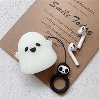 Little Ghost Designers Aripods Luxurys Case Headphone Accessories Creative Wireless Bluetooth Earphone Shakeproof Airpods 1 2   3 eaephones Box nice good