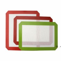 Non-Stick-Silikon-DAB-Matten (11,8 x 8,3 Zoll) Silikon-Backmatte für Wachsöl Backen Trockenkraut-Glas-Wasser-Bongs-Rigs EWC7619