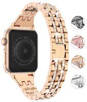 Women Diamond Watch band for iwatch Series 6 5 4 3 2 zirconium alloy strap Bracelet Wristband