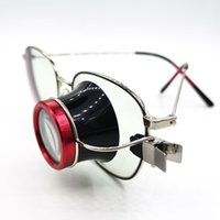 Clip-on Eyeglass Magnifier Loupes Lens Lens Watchmakers Jewelers Tool Tool Relógio Reparação para Óculos Nearsight Ferramentas Kits