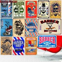 20x30cm BARBER Vintage Metal Tin Signs Bar Cafe Decoration Plaque Shop Billboard Haircuts Wall Art Poster Home Stickers