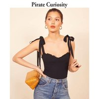 Pirate Curiosity Moda Crop Top Sexy Streetwear Elegant Black Camis Mulheres Elastic 2021 Verão Tops Off Shoulder Colete Femme Feminino's Tanks
