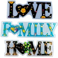 Home Family Silicone Moulds Love Resin Mold Love Sign Word Mold Epoxy Resin Molds for DIY Table Decoration Art Crafts