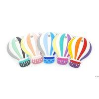 Bebek Silikon Diş Kaşıyıcı Renkli Balon Gıda Sınıfı BPA Ücretsiz DIY Diş Çıkarma Boncuk Çiğnenebilir Bebek Oyuncaklar Çocuk Hediye HWF6505