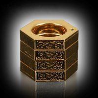 Многоцелевое деформируемое кольцо самообороны Товары самообороны Тайская латунь Волшебное кольцо самообороны Тип пряжки относится к спасению тигра