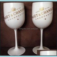 Mugs Drinkware Kitchen, Dining Bar Home & Gardenplastic Party White Champagne Wine Moet Glass T200216 Drop Delivery 2021 Qamyf