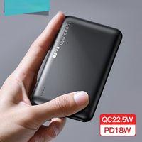 بنك الطاقة 10000MAH QC PD 3.0 Poverbank شحن سريع Powerbank 10000 مللي أمبير USB شاحن بطارية خارجي ميني