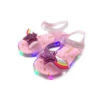 Original Girl Jelly Sandals Led Kids Sandals Children Beach Shoes Non-slip Toddler Shoes Y200619