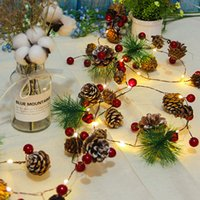 Christmas String Light Outdoor Waterproof Pine Cone Lights LED Copper Wire Fairy Garland Patio Holiday Decorate Lamp