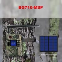 كاميرات الصيد Boly 4G Wireless Trail Camera لوحة شمسية 940NM أسود IR للرؤية الليلية لون LCD غير مرئية لعبة الكشفية ل BG710-M