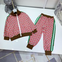 Autumn Boys Girls Ropa Traje Baby Solid Cremallera Chaqueta Pantalones 2 unids / Conjuntos Fashion Toddler Kiddler Cheatursuits Ropa para niños