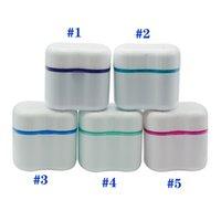 Zahnbox Halter Invisalign Bad mit Korb Dental Falsche Zähne Aufbewahrungsboxen Blau / Grün / Rosa Farben HHC7218