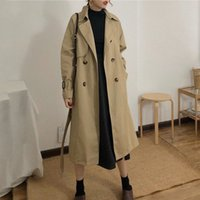 Mazefeng 2020 Nouvelle Trench Femmes Trench Pas cher Vente en gros Automne Hiver Selling Mode Femme Femme Casual Dames Travailler Wear Nice Manteaux N4ys #