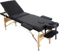 Mesas de massagem SPA Cama portátil 3 seções de madeira pernas com furo de rosto carregando saco