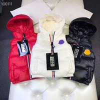 Дизайнер Monclair Mens Down Vest Детская Французская Бренд Бренд Соединение Без Рукавов Роскошные Мода Девушки Мальчики Пальто